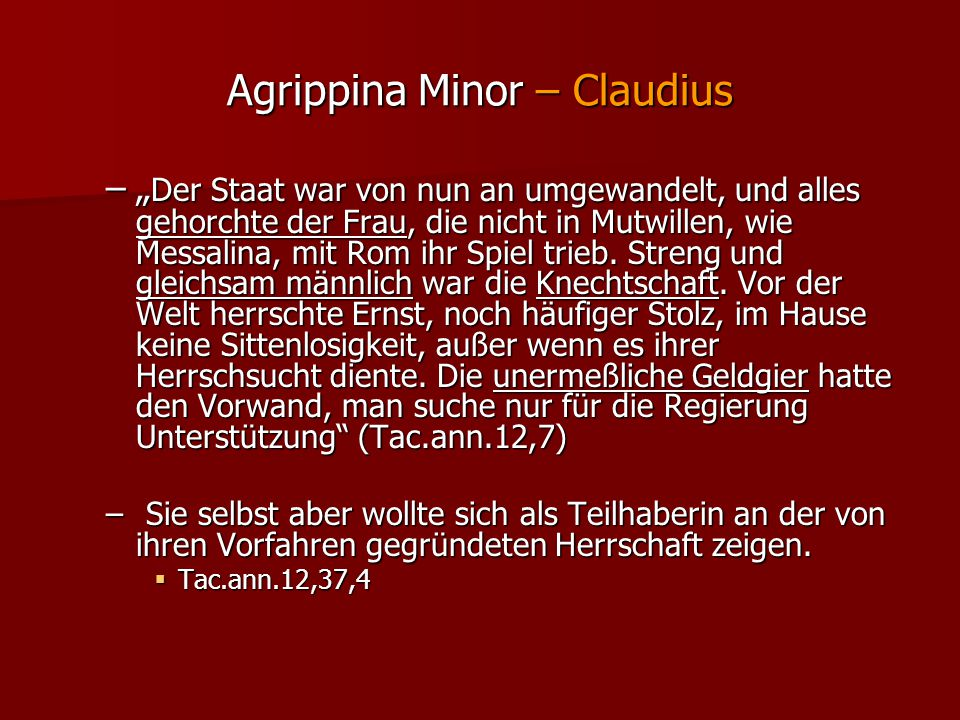 Agrippina Minor – Claudius
