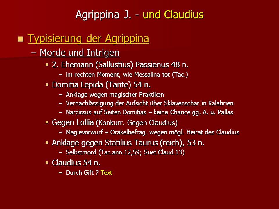 Agrippina J. - und Claudius