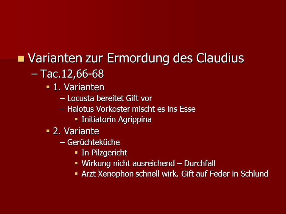 Varianten zur Ermordung des Claudius