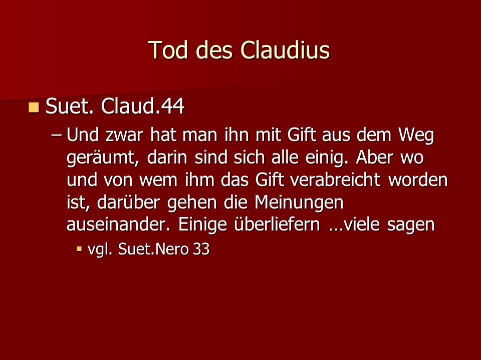 Tod des Claudius Suet. Claud.44