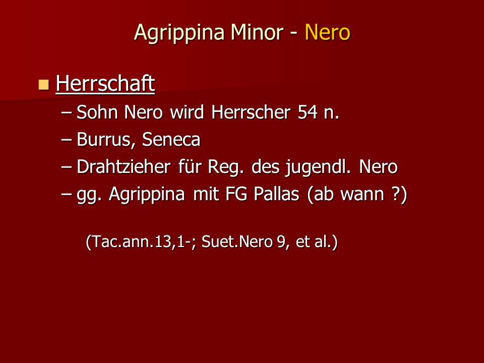 Agrippina Minor - Nero Herrschaft Sohn Nero wird Herrscher 54 n.