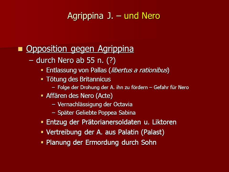 Opposition gegen Agrippina