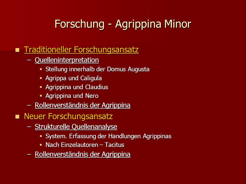 Forschung - Agrippina Minor