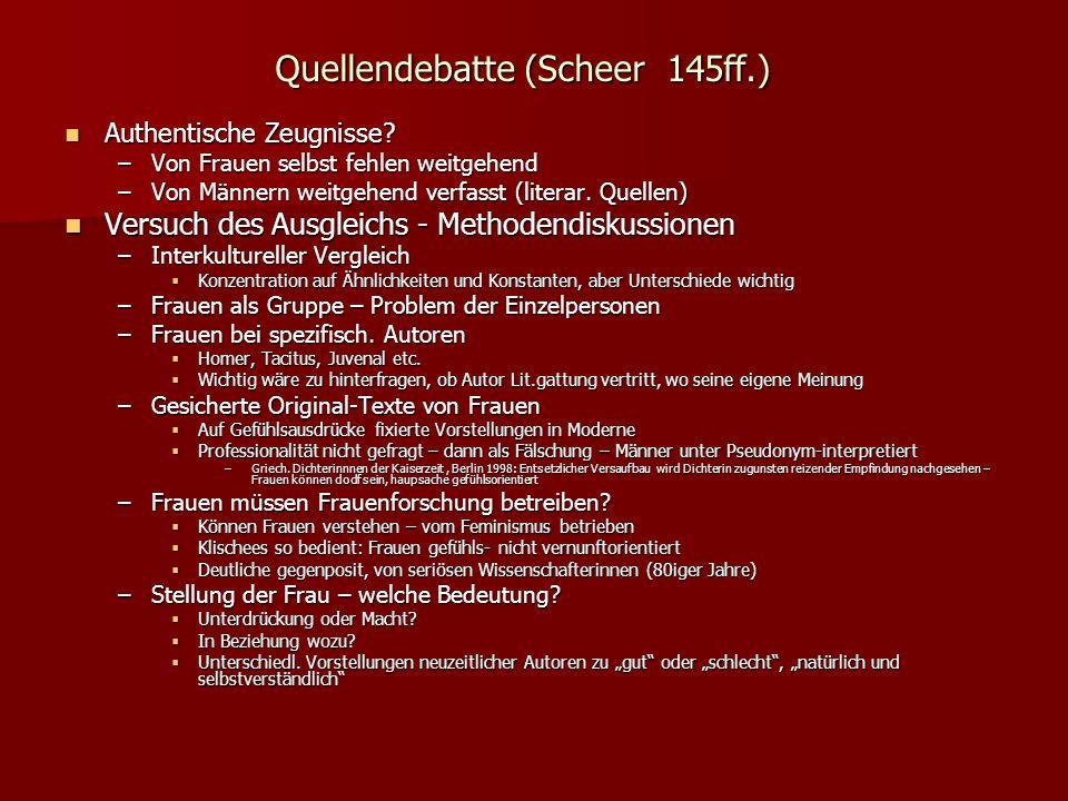 Quellendebatte (Scheer 145ff.)