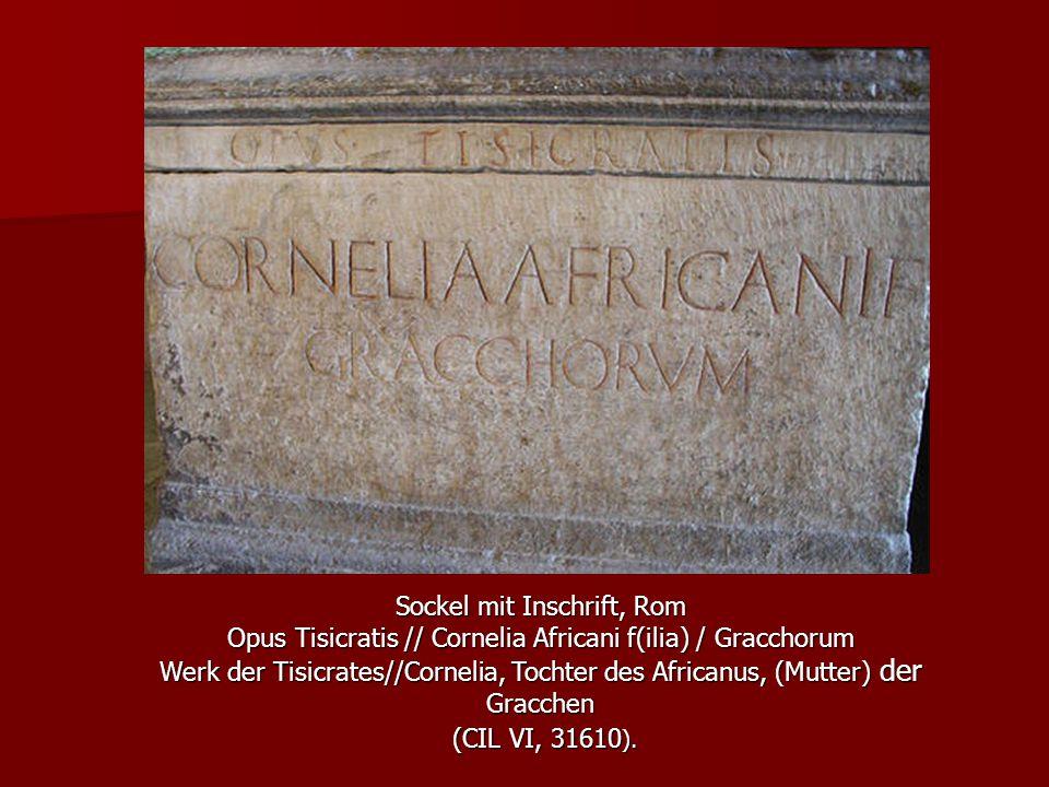 (CIL VI, 31610). Sockel mit Inschrift, Rom