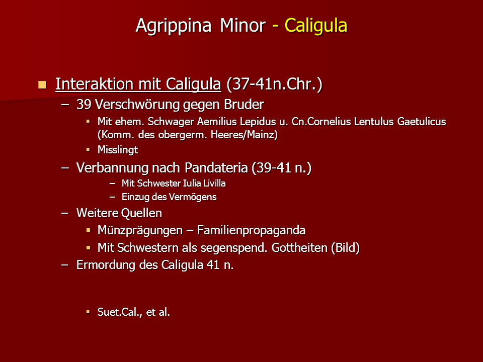 Agrippina Minor - Caligula