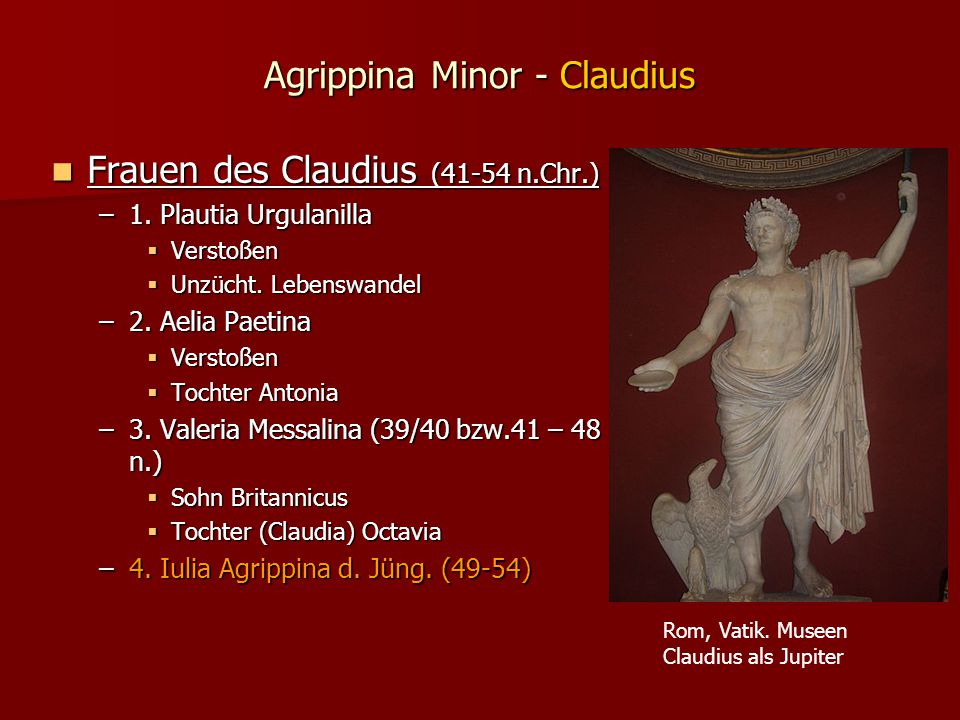 Agrippina Minor - Claudius