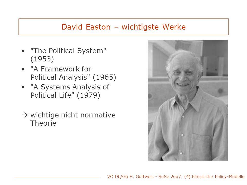 David Easton – wichtigste Werke