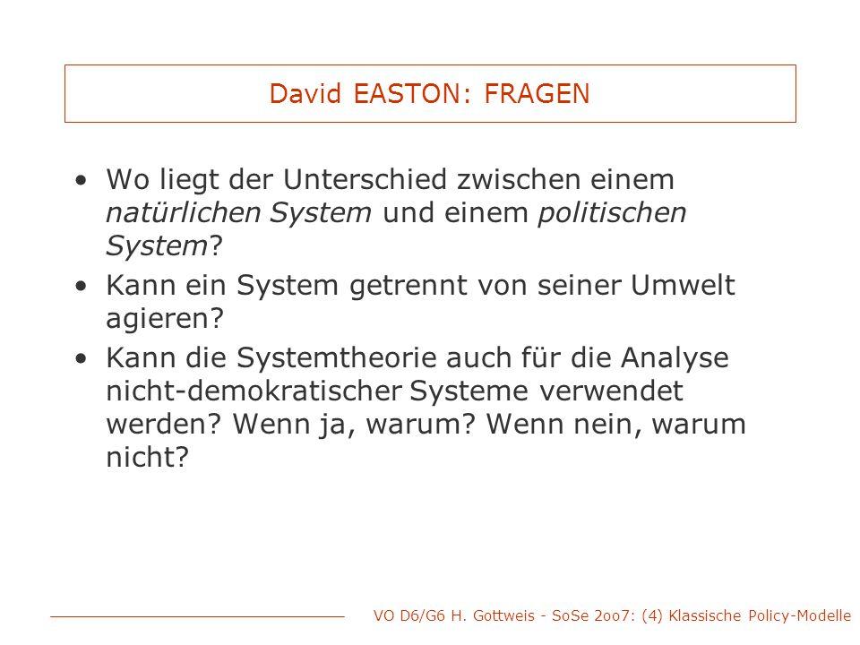 Kann ein System getrennt von seiner Umwelt agieren