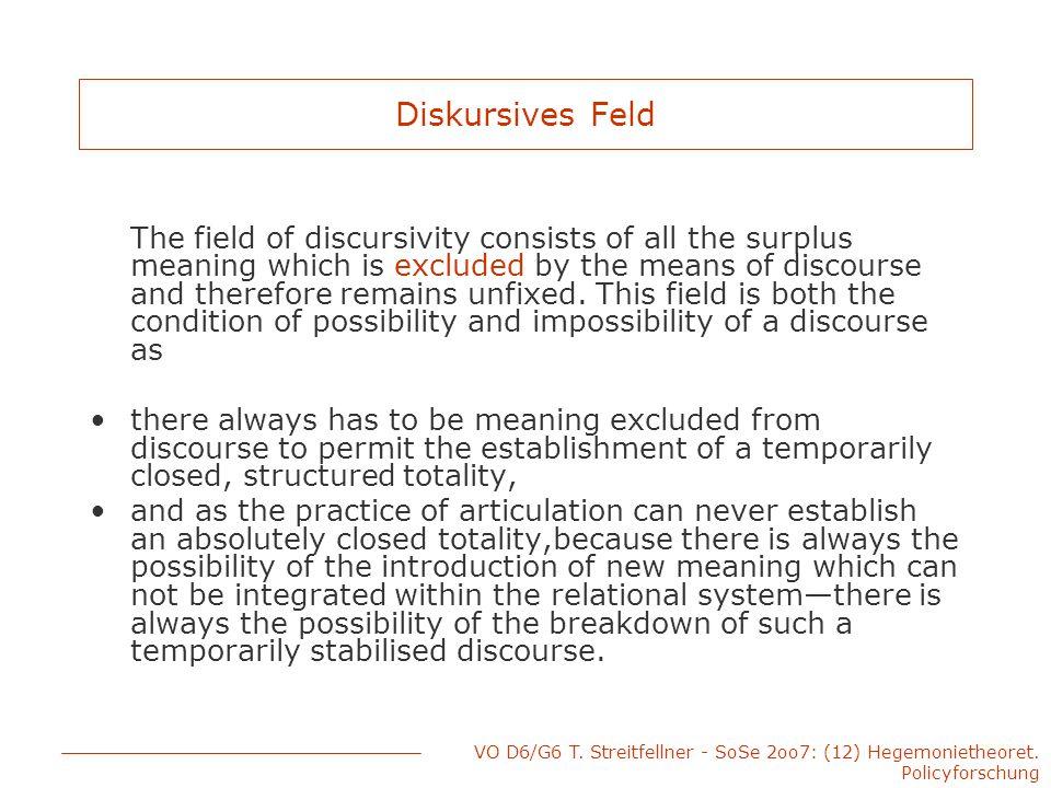 Diskursives Feld