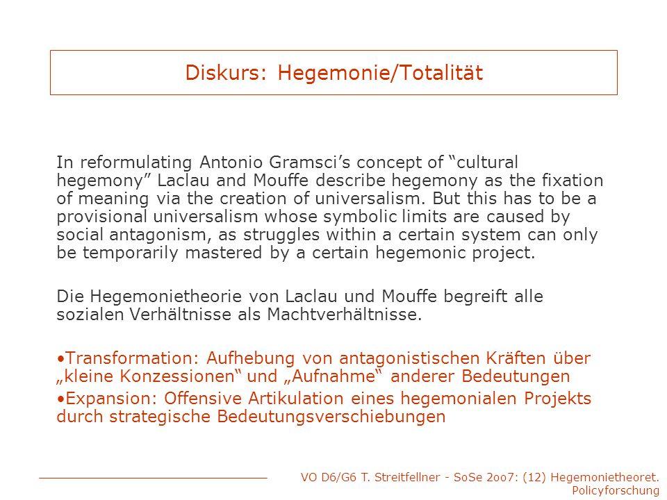 Diskurs: Hegemonie/Totalität