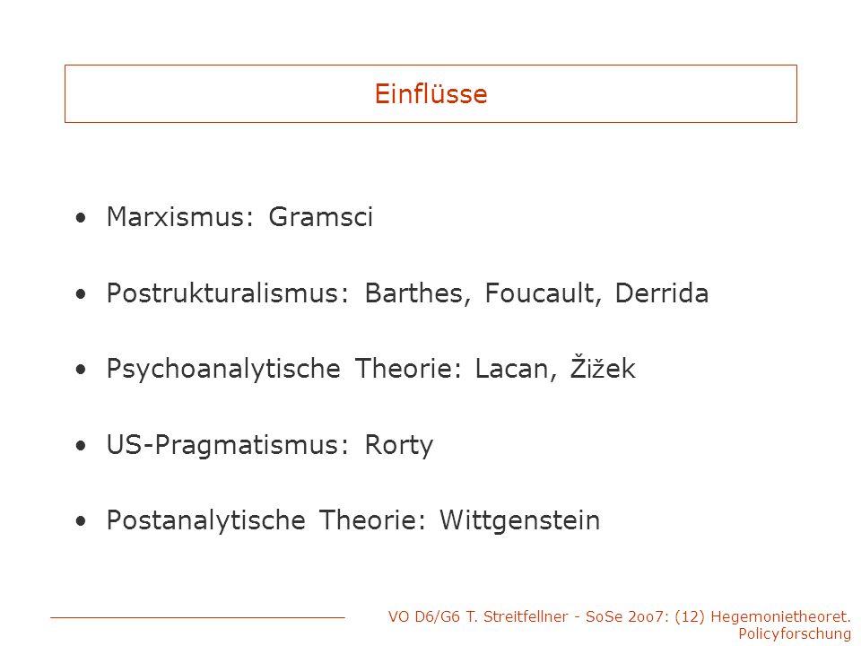 Postrukturalismus: Barthes, Foucault, Derrida