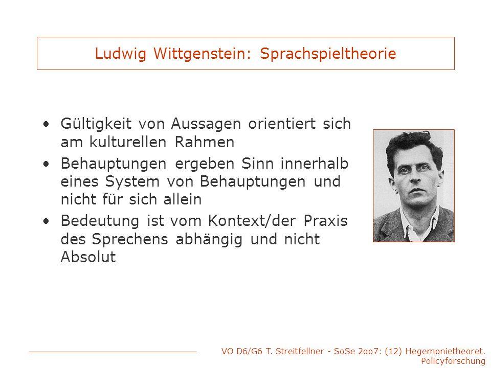 Ludwig Wittgenstein: Sprachspieltheorie