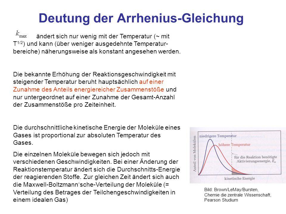 Deutung der Arrhenius-Gleichung