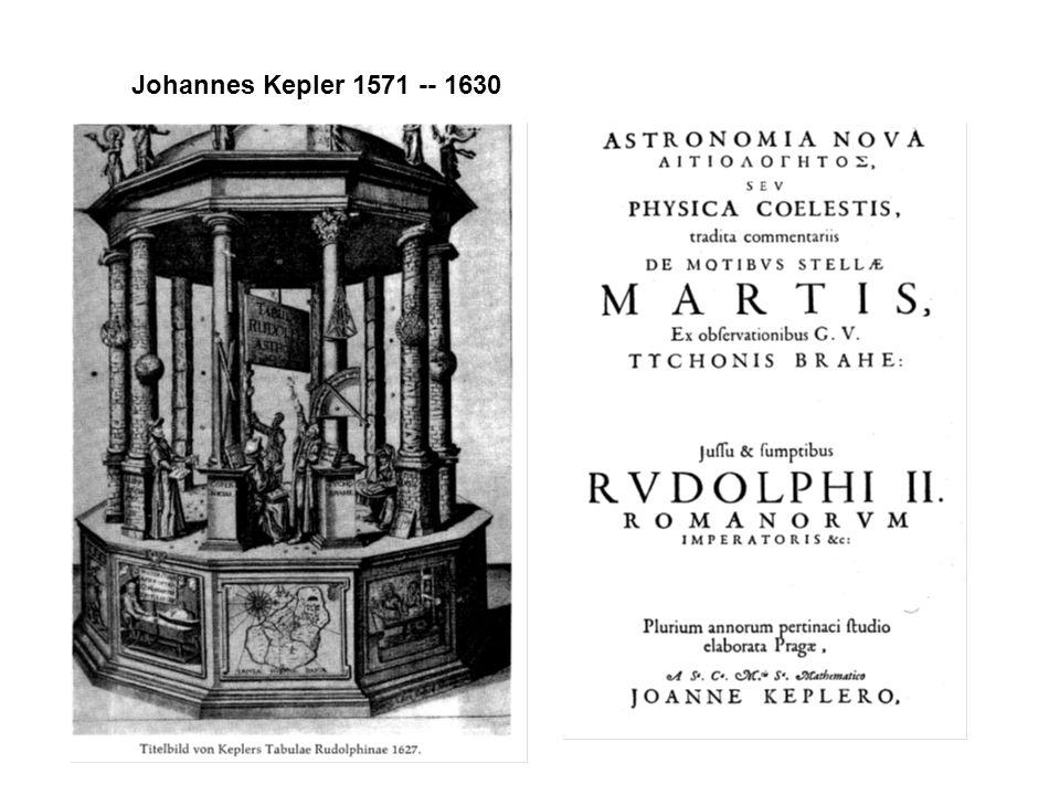 Johannes Kepler 1571 -- 1630