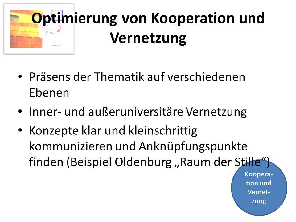 Optimierung von Kooperation und Vernetzung