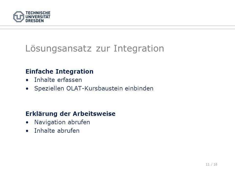 Lösungsansatz zur Integration