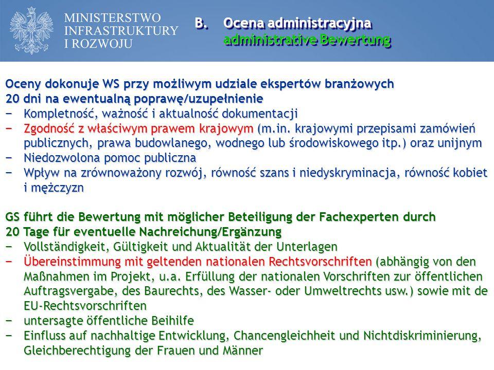 Ocena administracyjna administrative Bewertung