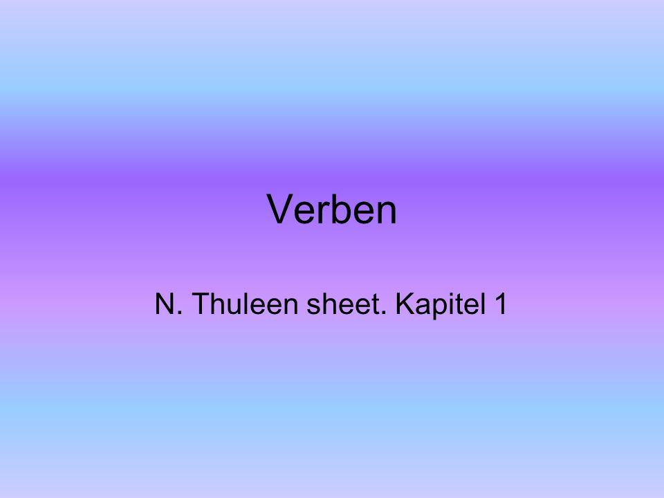 N. Thuleen sheet. Kapitel 1