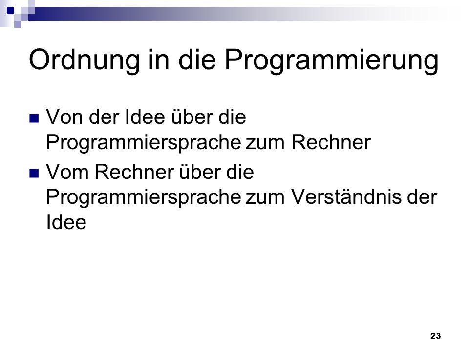 Ordnung in die Programmierung