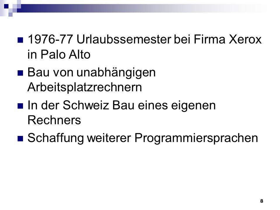 1976-77 Urlaubssemester bei Firma Xerox in Palo Alto