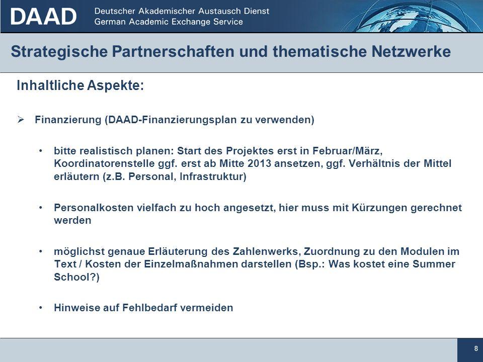 Strategische Partnerschaften und thematische Netzwerke