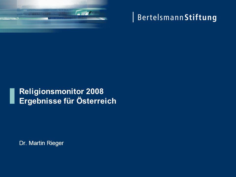 Religionsmonitor 2008 Ergebnisse für Österreich