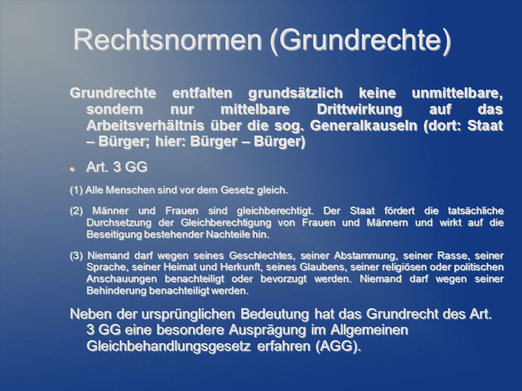 Rechtsnormen (Grundrechte)