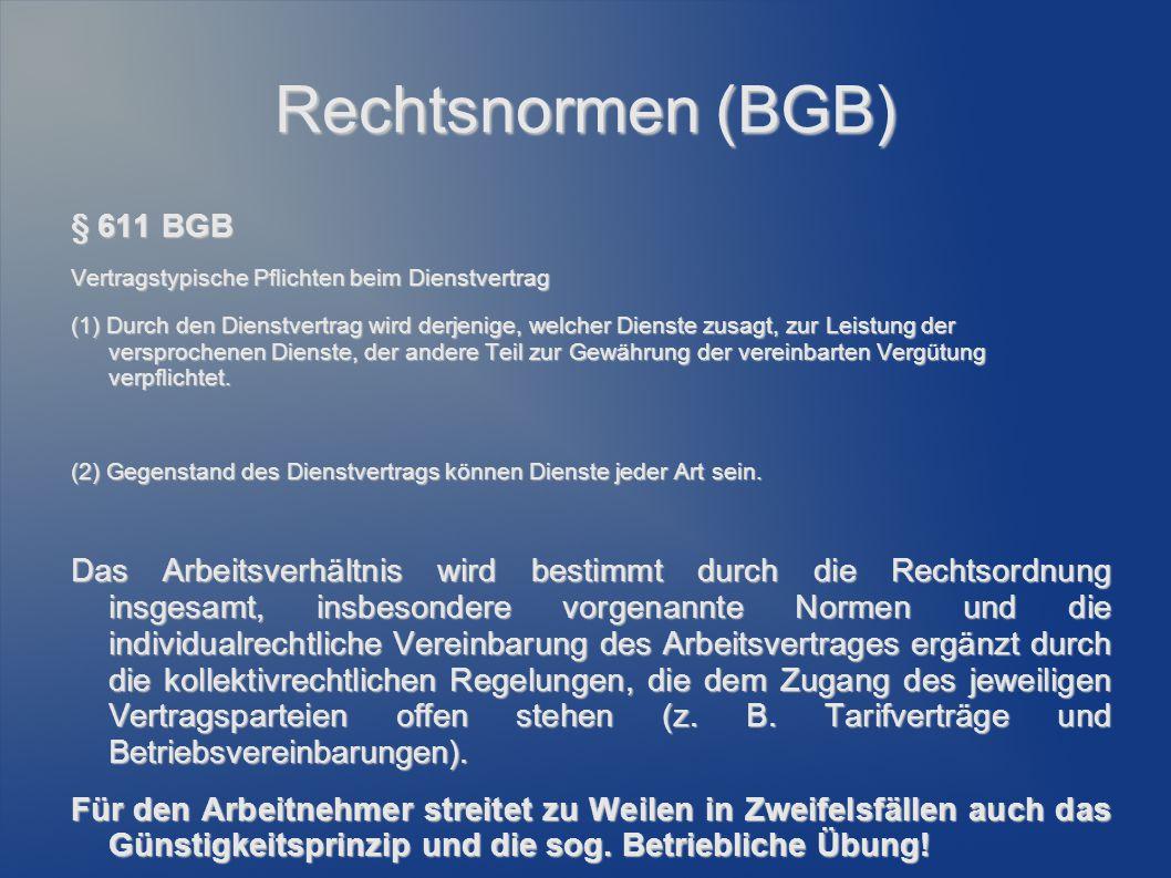 Rechtsnormen (BGB) § 611 BGB