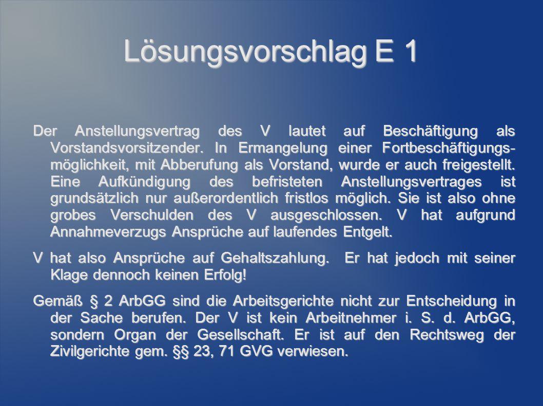 Lösungsvorschlag E 1