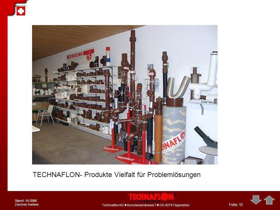 TECHNAFLON- Produkte Vielfalt für Problemlösungen