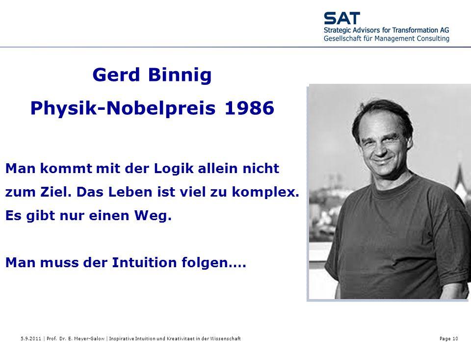 Gerd Binnig Physik-Nobelpreis 1986