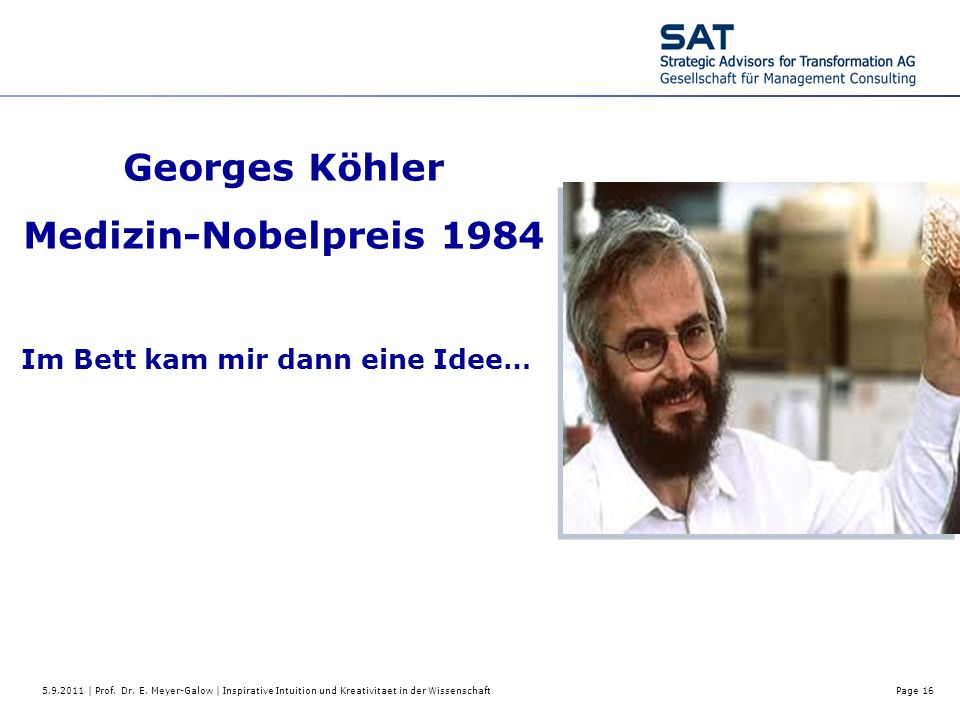 Georges Köhler Medizin-Nobelpreis 1984