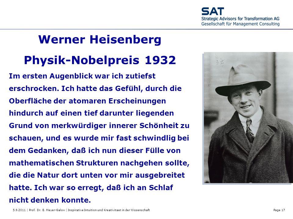 Werner Heisenberg Physik-Nobelpreis 1932