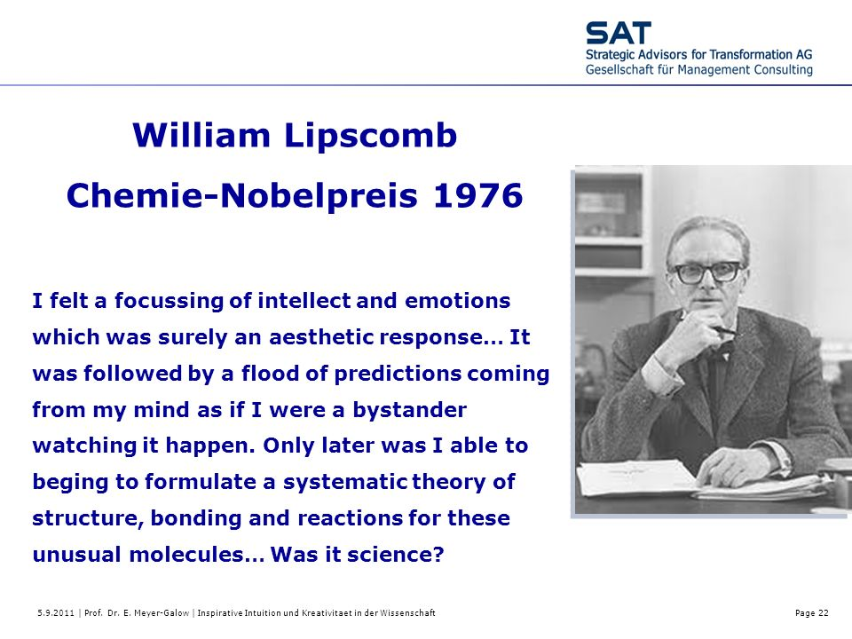 William Lipscomb Chemie-Nobelpreis 1976