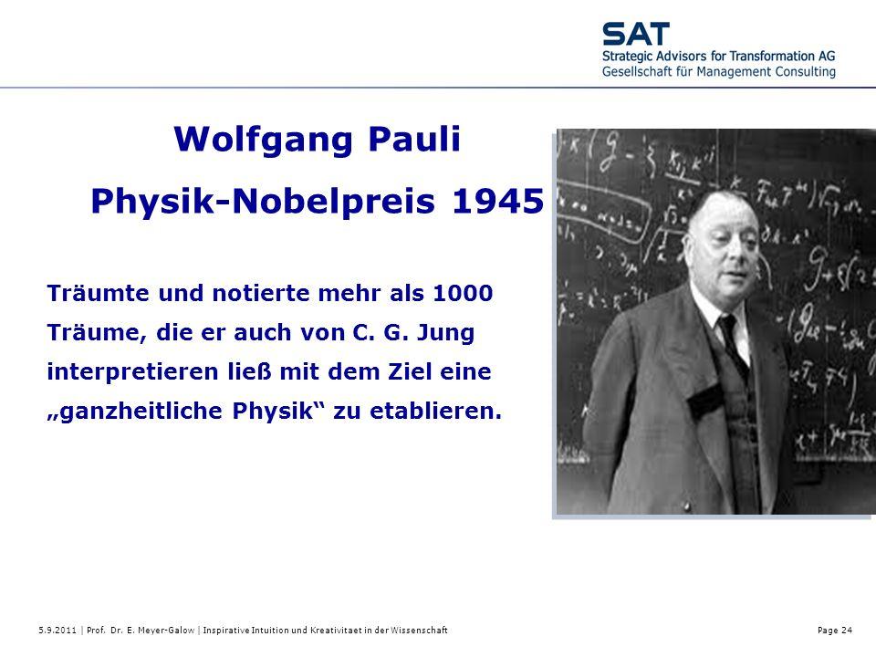 Wolfgang Pauli Physik-Nobelpreis 1945