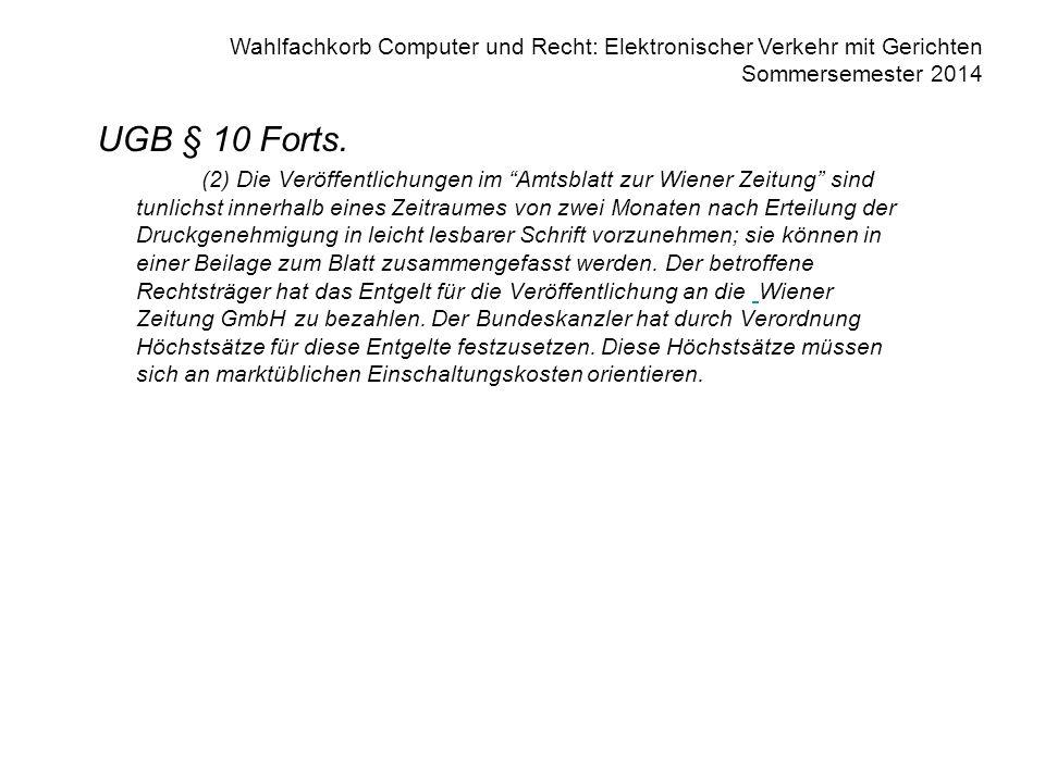 UGB § 10 Forts.
