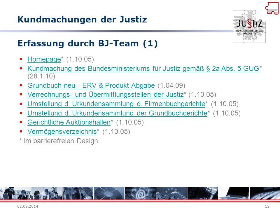 Erfassung durch BJ-Team (1)