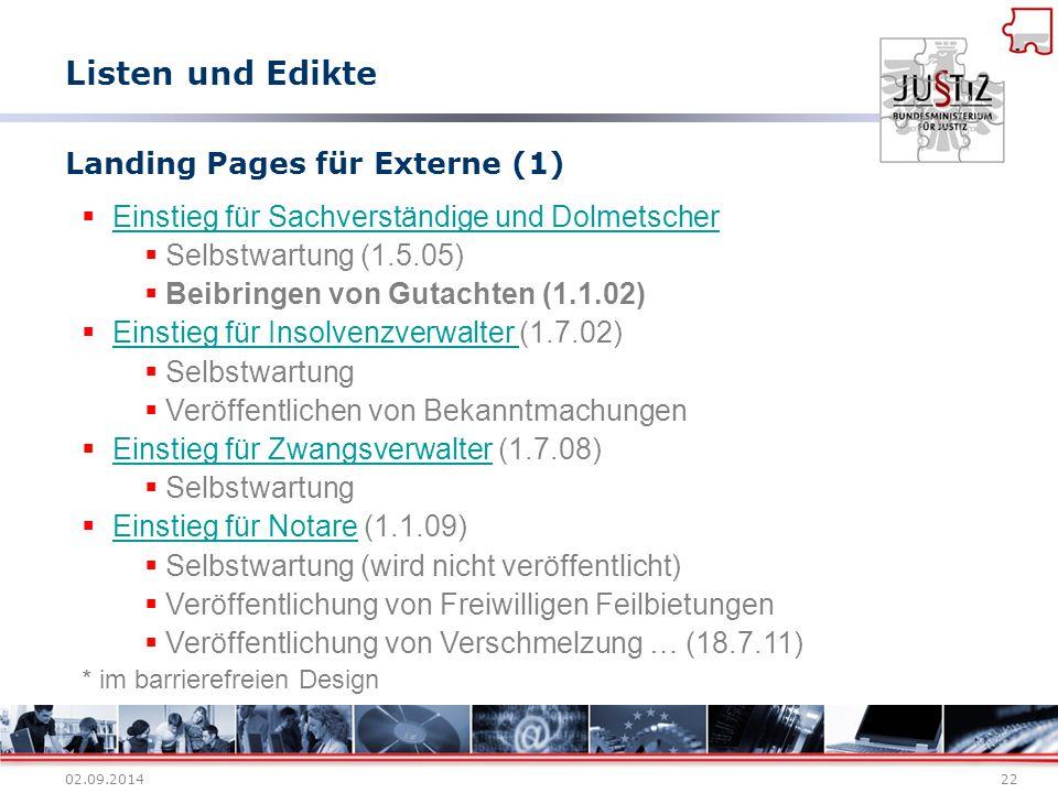 Landing Pages für Externe (1)