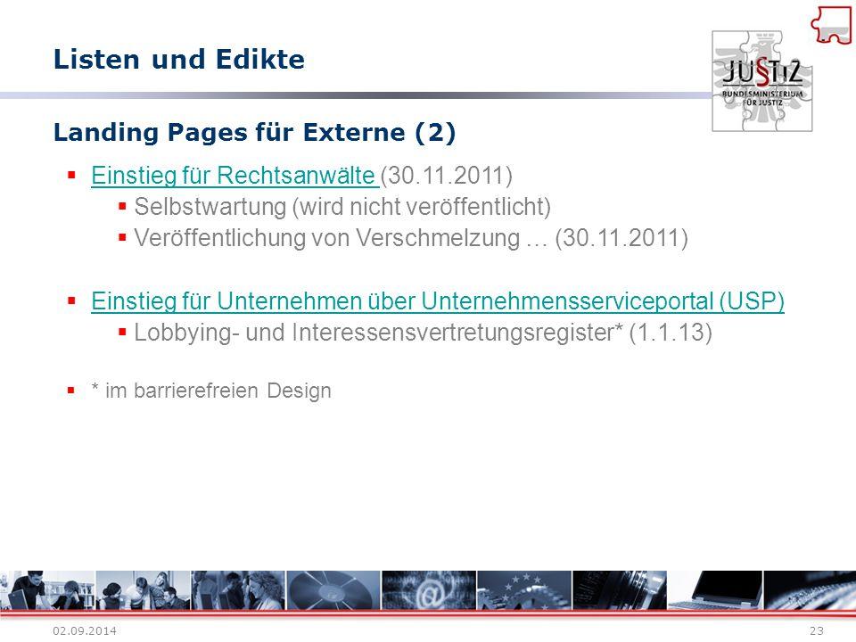 Landing Pages für Externe (2)