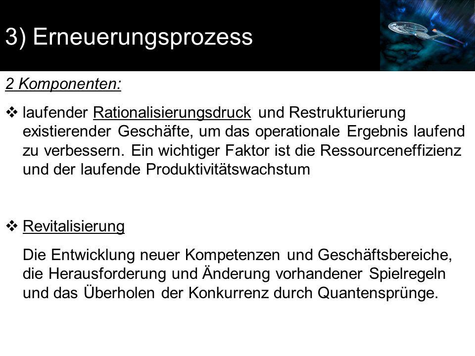 3) Erneuerungsprozess 2 Komponenten: