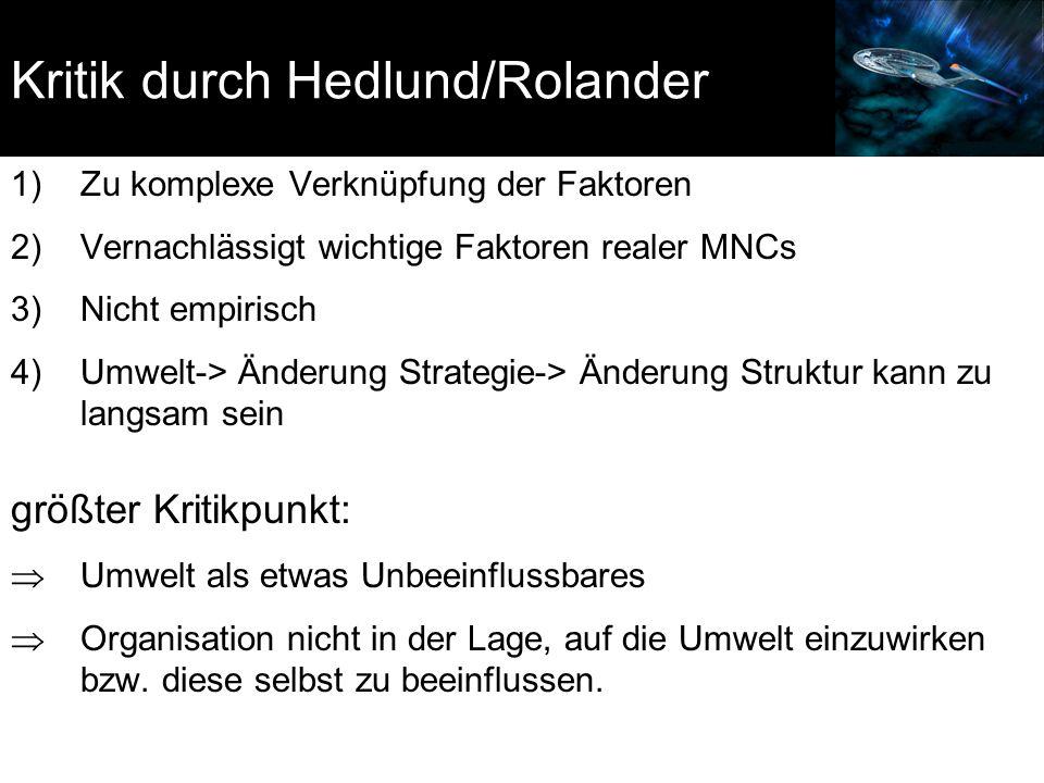 Kritik durch Hedlund/Rolander