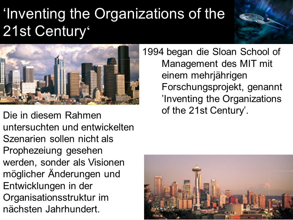 'Inventing the Organizations of the 21st Century'