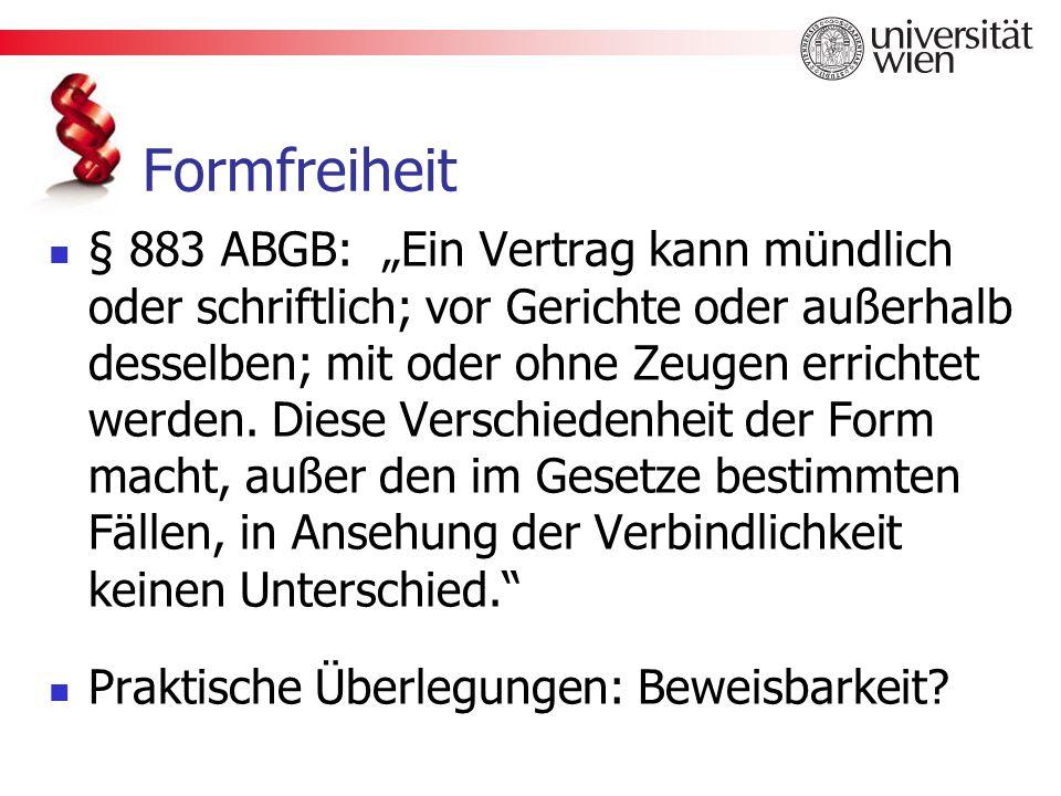 Formfreiheit
