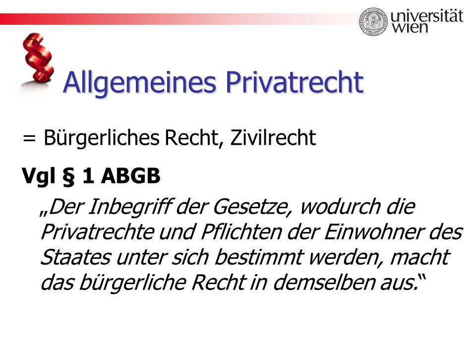 Allgemeines Privatrecht