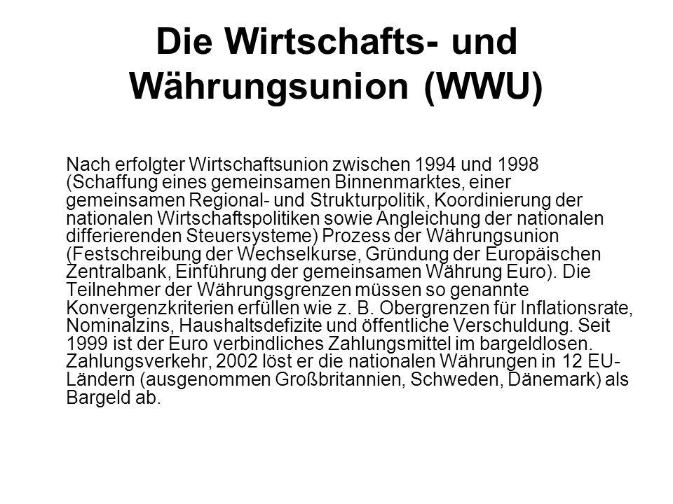 Die Wirtschafts- und Währungsunion (WWU)
