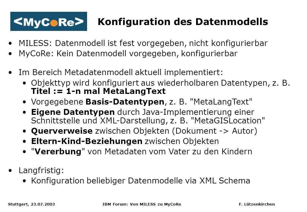 Konfiguration des Datenmodells