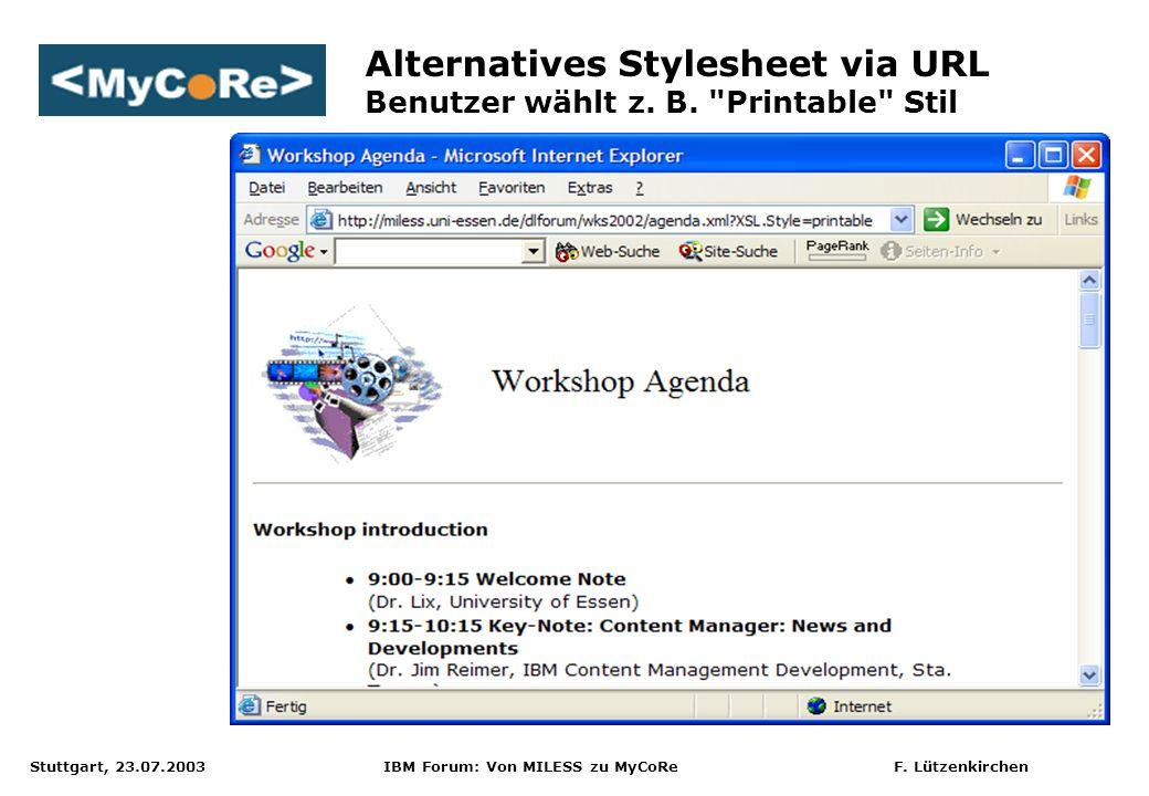 Alternatives Stylesheet via URL Benutzer wählt z. B. Printable Stil