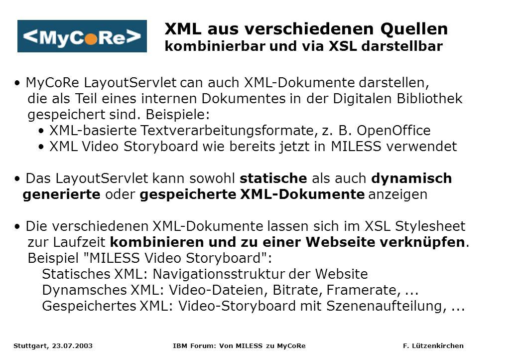 XML aus verschiedenen Quellen kombinierbar und via XSL darstellbar
