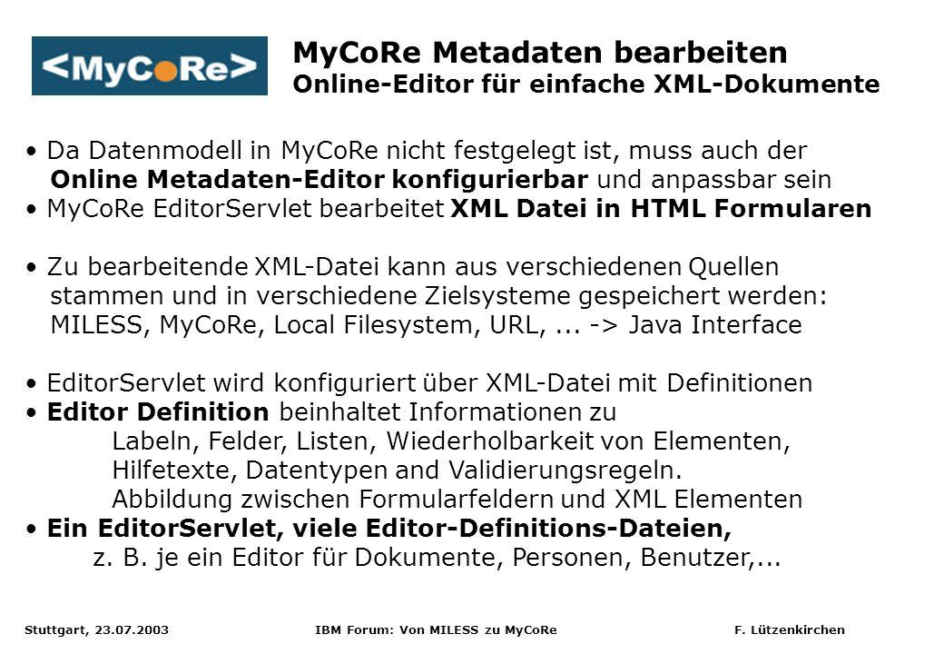 MyCoRe Metadaten bearbeiten
